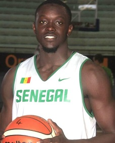 Professional basketball player Khouraichi Thiam who suffered serious hand injuries when his mobile phone exploded